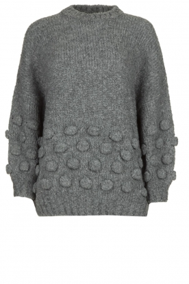 Rabens Saloner |  Knitted sweater Begiita | grey