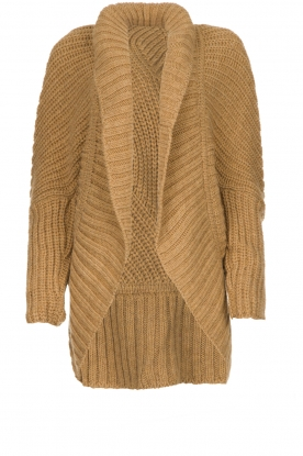 Rabens Saloner | Knitted cardigan Becky | camel
