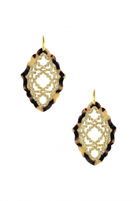 Miccy's |  Earrings Azizi - large | brown