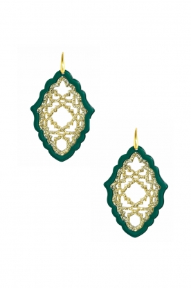 Miccy's |  Earrings Azizi - large | green