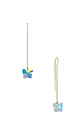Miccy's |  Swarovski earrings Crystal Butterfly | gold