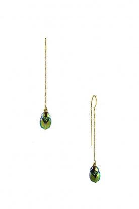 Miccy's |  Swarovski earrings Crystal Beatle | green