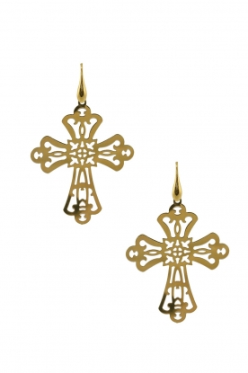 Miccy's |  18k gold plated earrings Cross | gold