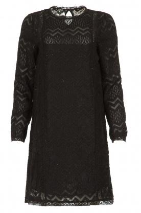 Freebird | Kanten jurk Dena | zwart