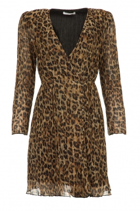 Freebird |  Dress with leopard print Evia | brown