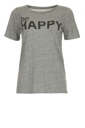 Chaser |  T-shirt with print Happy | grey