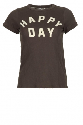 Chaser | T-shirt Happy Day | zwart