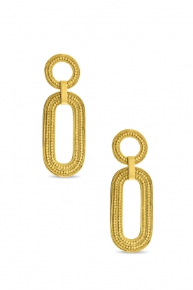 Close to Zen |  22k gold plated earrings Close To My Soul | gold