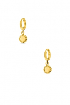 Close to Zen | 22K gold plated earrings Moon | gold