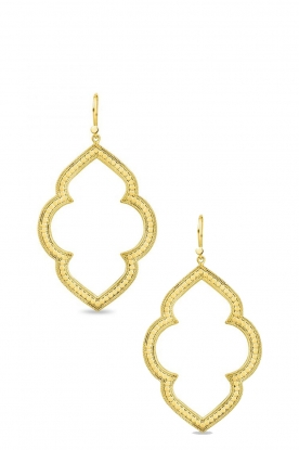 Close to Zen | 22K golden plated earrings Marakech | gold