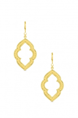 Close to Zen |22K gold plated earrings Marakech | gold