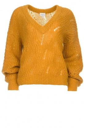 Dante 6 |  Knitted sweater Eras | mustard