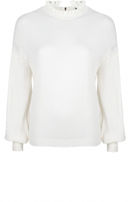 Dante 6 |  Sweater with ruffle turtleneck Theia | white