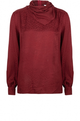 Dante 6 |  Leopard blouse with turtleneck Shay | burgundy