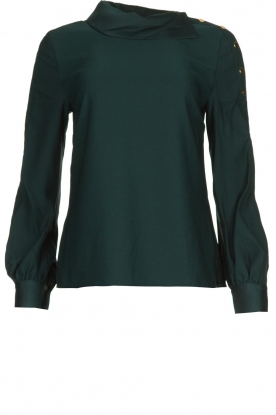 Dante 6 |  Blouse folded collar Toni | green