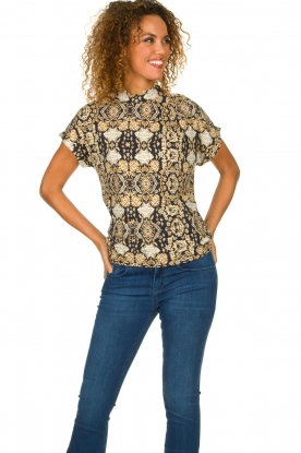 Dante 6 |  Baroque printed top Tizy | multi