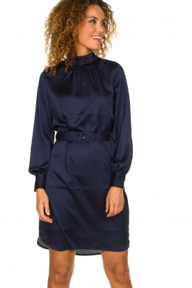 Dante 6 | Dress with waistbelt Leto | blue