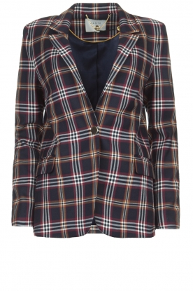 Dante 6 |  Checkered blazer Fliren | navy