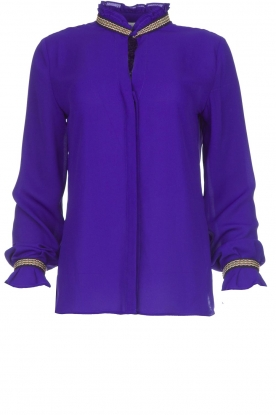 Dante 6 |  Blouse with embroideries Pippa | purple