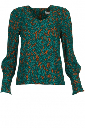 Dante 6 |  Printed top Lotus | greem