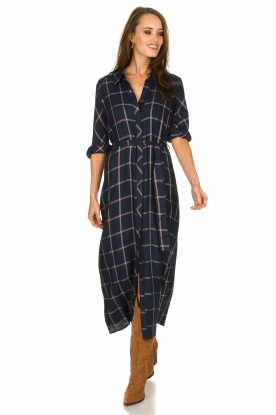 Dante 6 |  Checkered dress Yucki | navy