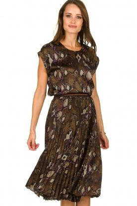 Dante 6 |  Snake print plissé skirt Leann | print