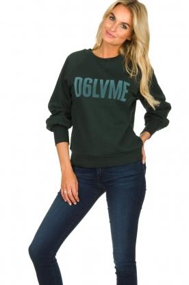 Dante 6   Sweatshirt met tekstopdruk Love Me   groen
