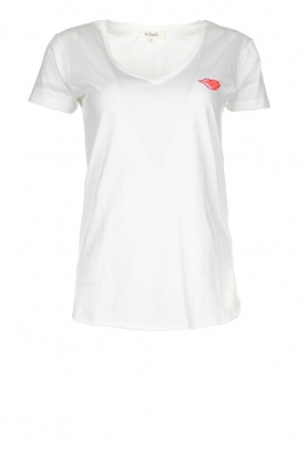 Les Favorites |  T-shirt with lips print Bobby | white