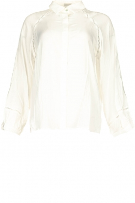 JC Sophie |  Blouse with cut-outs Bess | white