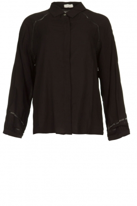 JC Sophie |  Blouse with cut-outs Bess | black