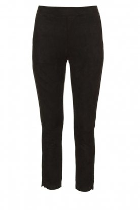 JC Sophie |  Suede look pants Bunny | black
