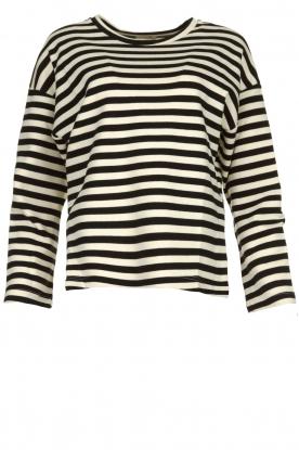 JC Sophie |  Striped sweater Blossem | black & white