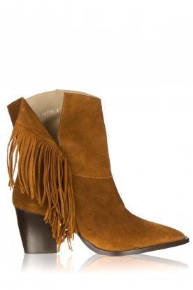 Toral | Suede boots Basket | camel