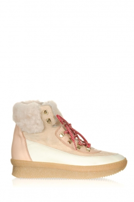 Toral |  Leather sneakers Doma | beige