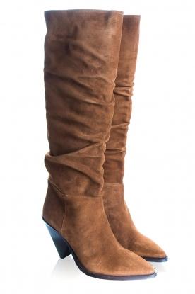 Toral | Suede boots Saar | camel
