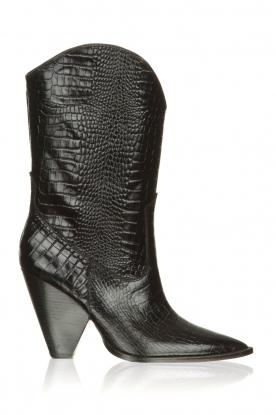 Toral | Leren laarzen Coco | zwart