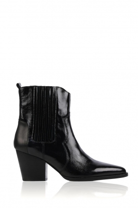 Toral |  Lacquer leather ankle boots Damasco | black