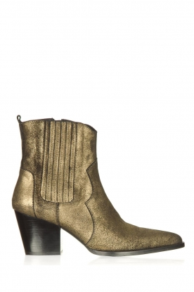 Toral |  Leather metallic boots Tauny | gold