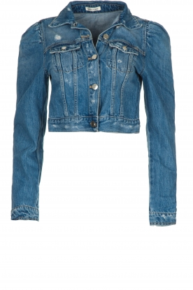 Kocca | Short denim jacket Radig | blue