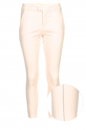 Kocca | Chino trouser with diamonds Tres | nude