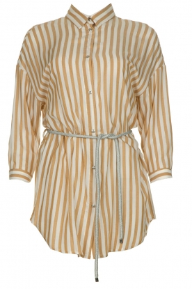 Kocca | Striped blouse Paige | brown