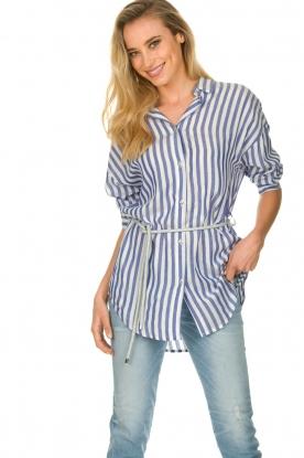 Kocca |  Striped Blouse Nelles | blue