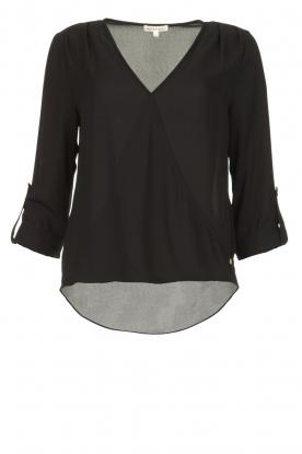 Kocca |  Wrap blouse Guase | black