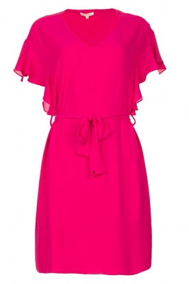 Kocca |  roze | Dress with belt Lifana