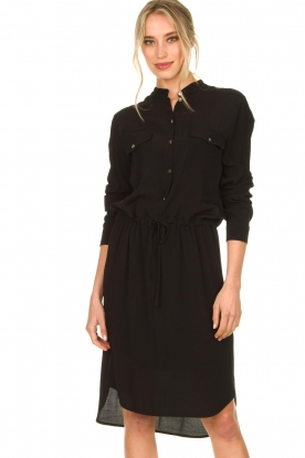 Kocca |  Dress with button details Under | black