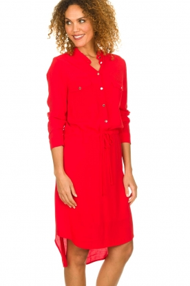 Kocca |  Dress with button details Under | red