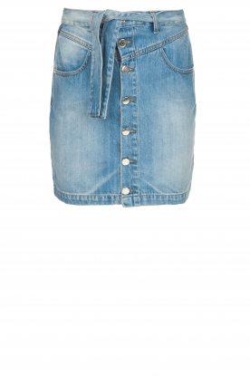 Kocca |  Denim skirt with belt Okay | blue