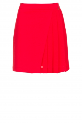 Kocca |  Skirt with wrap effect Pandy | red