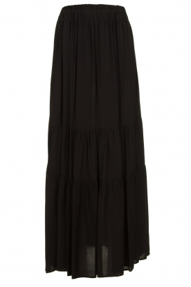 Kocca |  Maxi skirt with pleats Paquita | black
