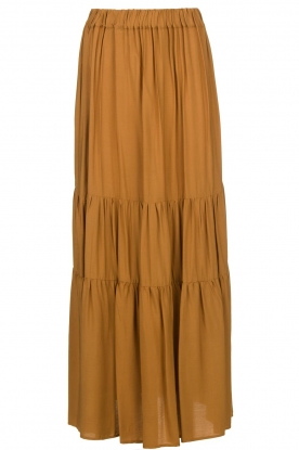 Kocca | Maxi skirt with pleats Paquita | brown